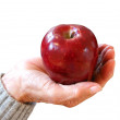 Offering an apple — Foto de Stock