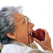 Royalty-Free Stock Photo: Biting an apple