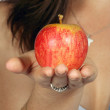 Royalty-Free Stock Photo: Apple o hand - focus on apple