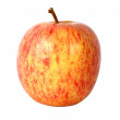 Foto Stock: Apple in red over white