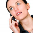 Business woman on a cell phone — Stock Photo #7633027