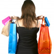 Royalty-Free Stock Photo: Business woman with shopping bags - sally