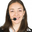 Customer service or telesales woman — Stock Photo #7633151
