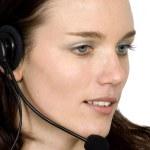 Beautiful customer service girl — Stock Photo #7633152