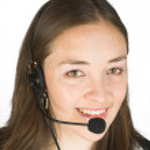 Customer service girl smiling — Stock Photo #7633154