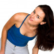 Stok fotoğraf: Casual female model with hair in motion