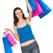 Girl in a shopping spree — Foto de Stock