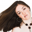 Beauty portrait with blowing hair — Stock Photo #7633309