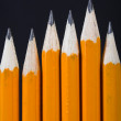 Black pencils standing out - vertical — 图库照片