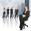 Business team - Colum chart - Stock Photo