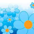 Stock Photo: Blue flower illustration