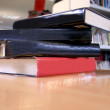 Books on desk 2 - Stock Photo