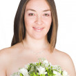 Beautiful posing bride - Stockfoto