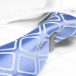Blue business tie — Stock Photo