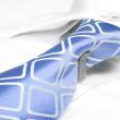 Blue business tie — Stock Photo #7633482