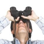 Find and seek - man with binoculars — Stock Photo #7633487