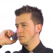 Business call - serious look — Stock Photo