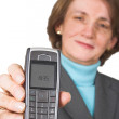Stock Photo: Business woman with cellphone