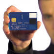 Business man - credit card — Stock Photo