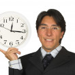 Business time management - man with glasses - Foto Stock
