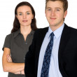 Beautiful business couple — Stock Photo