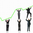 Stock Photo: Business growth and success graph
