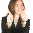 Business woman - thumbs up! — Foto Stock