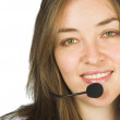 Beautiful sales representative - customer service girl — Stock Photo
