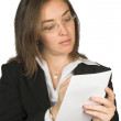 Business woman taking notes - Foto de Stock