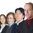 Business man leading his team- isolated — Stock Photo #7633932