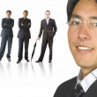 Business man and his team — Stock Photo #7633941