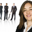 Business woman and her team — Stock Photo #7633945