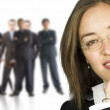 Royalty-Free Stock Photo: Business woman and her huge team