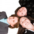 Heads together - business female team — Stock Photo