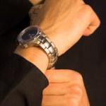 ビジネスの男性 - 時計 — ストック写真