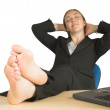 Business relaxation - feet up — Stock Photo