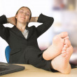 Business relaxation at the office - Stock Photo