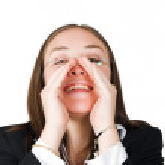Business woman shouting 2 — Stock Photo