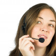 Business customer services - sales rep - Stock Photo