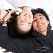 Royalty-Free Stock Photo: Casual happy couple