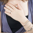 Female wearing nice jewellery - ストック写真