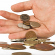 Spare change - pounds - Stock Photo