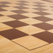 Chess board perspective - Stock Photo