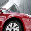 Red car - corporate environment — Stock Photo