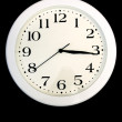 Royalty-Free Stock Photo: Clock over black