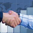Stock Photo: Business deal - column chart