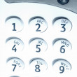 Close up of keypad - cyan — Stock Photo