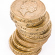 Stock Photo: British pound coins