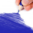 Blue color drawing — Stockfoto