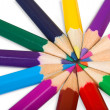 Color wheel close up - Stock Photo